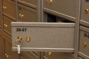 A safe deposit box may not be the best place to keep some items.